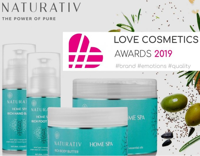 Love Cosmetics Awards dla spektakularnej linii Naturativ Home Spa