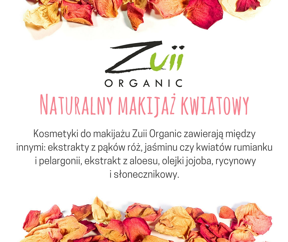 Zuii Organic - jedyne ze sproszkowanych płatków kwiatów