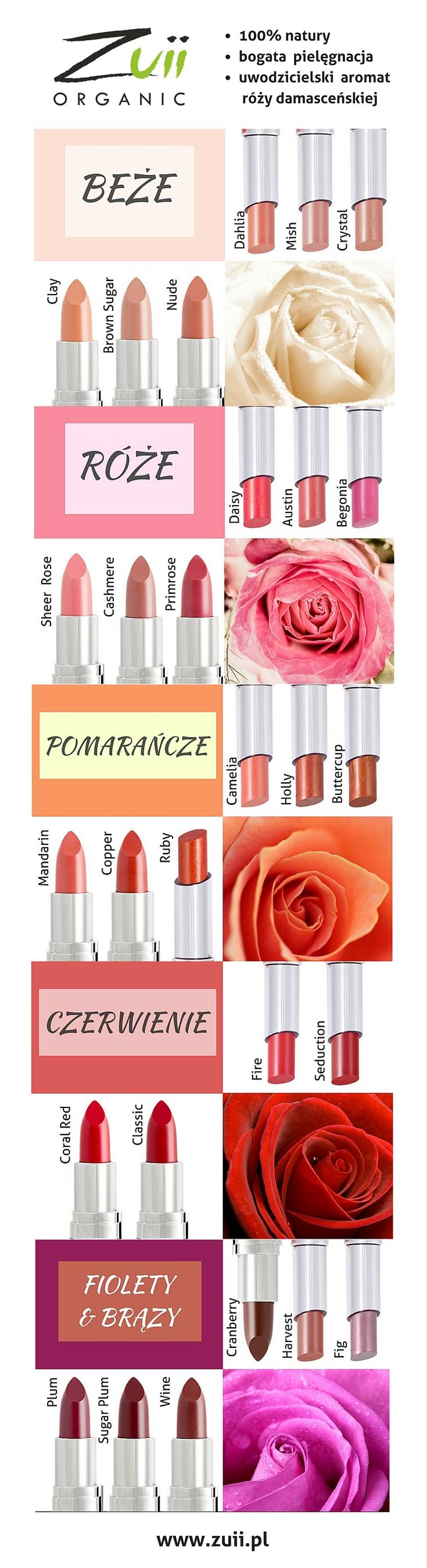 Dobierz kolor szminki Zuii