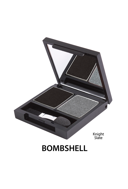 Podwójne cienie mineralne  do powiek - Bombshell [Grafitowe]