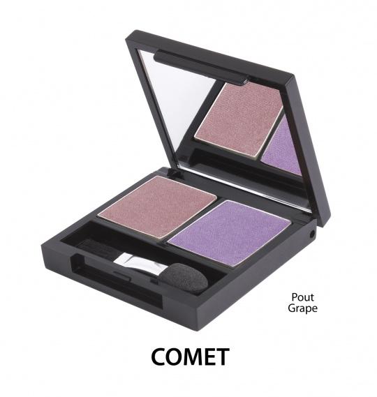 Podwójne  cienie mineralne do powiek - Comet [Wrzosowe]